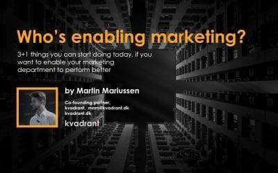 Who's enabling marketing?