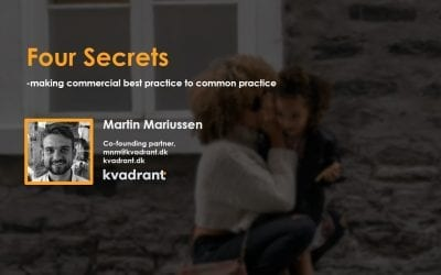 The 4 secrets to making commercial best practice, common practice